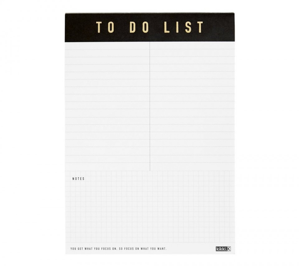 A5 To Do List Pad: Life Essentials