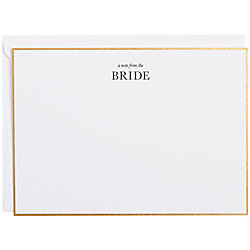Note from the Bride Foil
