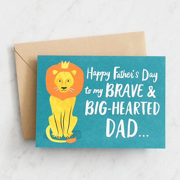 Brave Bighearted Dad Lion