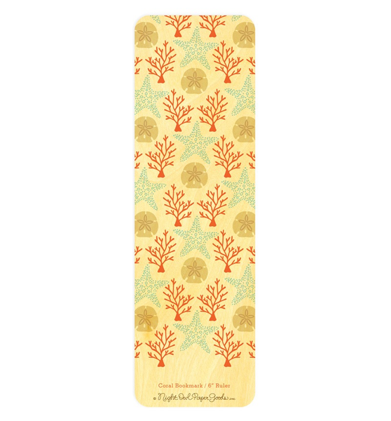 Wooden Bookmark - Coral