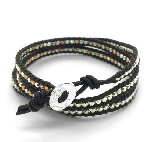 'BELIEVE' (Chocolate) Single Wrap Bracelet
