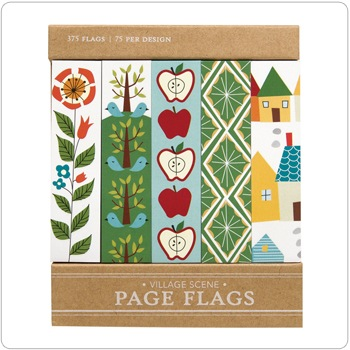 Village Scene - Page Flags