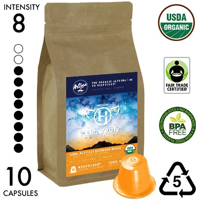 Heavenly Project High-Altitude Blend - Recyclable Organic Nespresso Compatible Capsules