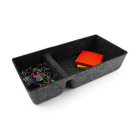 Felt Drawer Organizer Divided Tray - Charcoal