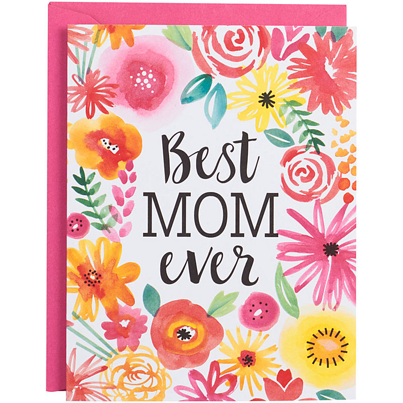 Best Mom Ever Bright Florals