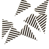 Black & White Pennant Mini Banner
