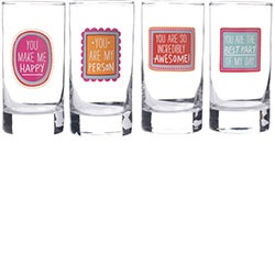 HAPPY THOUGHTS GLASSES set of 4