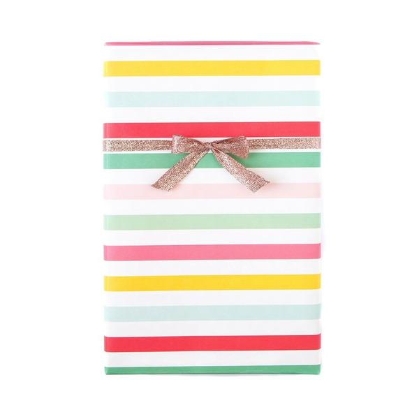 Hooray Circus Stripe/Pink Dot Gift Wrap Sheets - x3 20x27 sheets