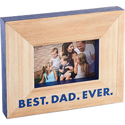 Best Dad Ever Wood Frame