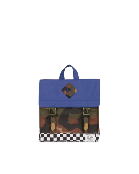 Survey Backpack | Kids -  Deep Ultramarine/Checker/Woodland