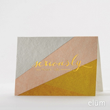 Boxed Thank You Cards - Bias Cut
