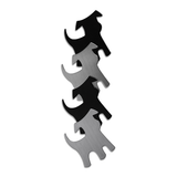 Shape-Up Metal Magnets Dogs Black/Stainless