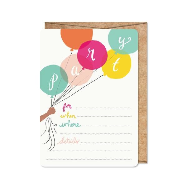 Birthday Brights Invitations