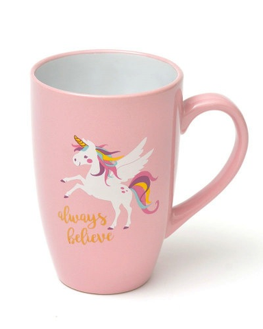 'ALWAYS BELIEVE' - UNICORN COFFEE CUP WITH GOLD FOIL