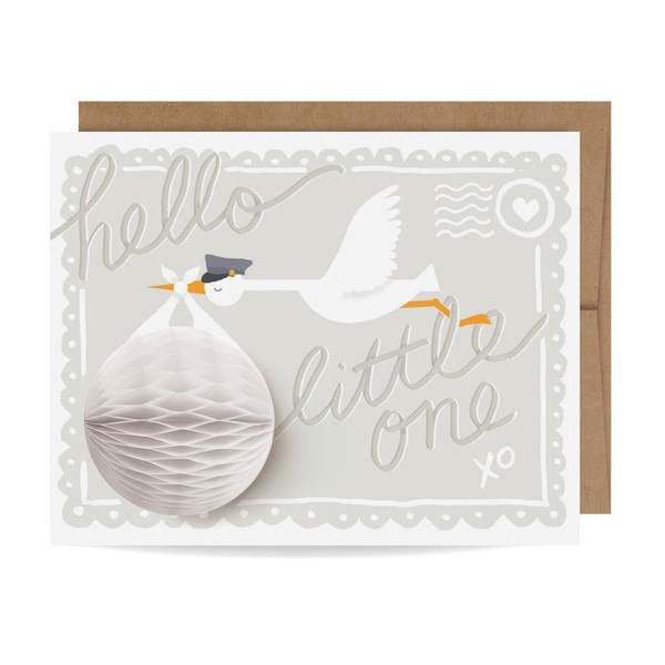 Pop-up Card - Baby Stork