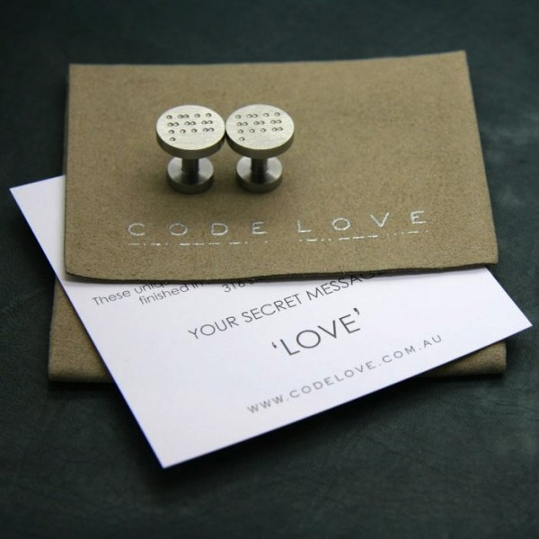 """Love"" Cuff Links"