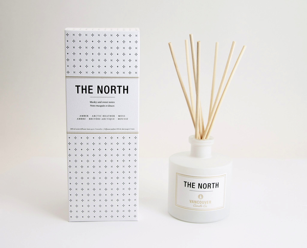 Vancouver Candle Co. The North Diffuser - Amber, Artcic Heather, Moss