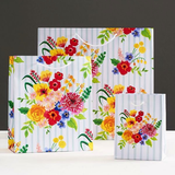 Floral Stripe Gift Bag Small