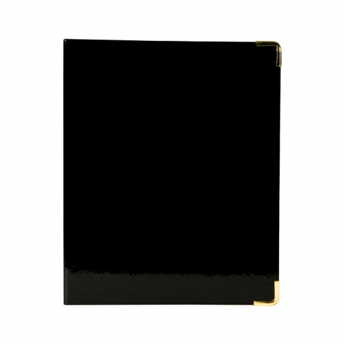 Mini Binder - Black Patent