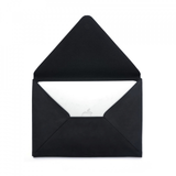 Leather Envelope Portfolio - black