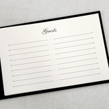 Guest Book - Unlined, Basic Black