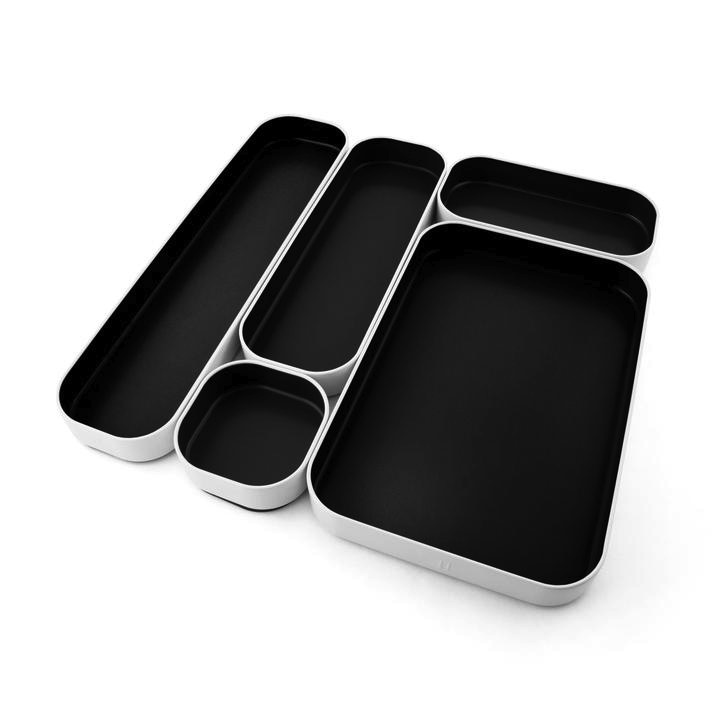 Drawer Organizer Set of 5 - Black