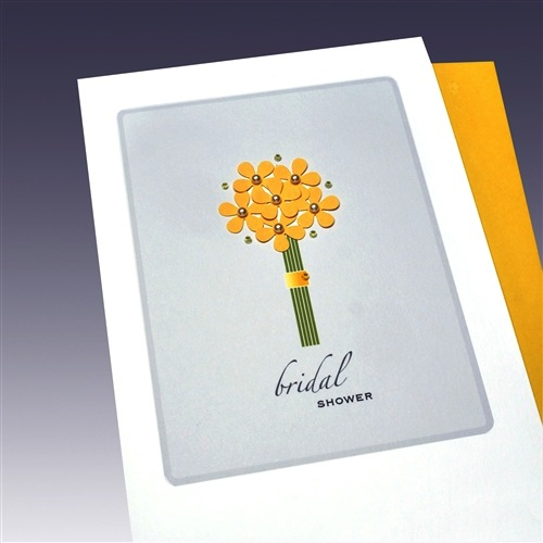 Wedding Card - Bridal Shower - Flowers