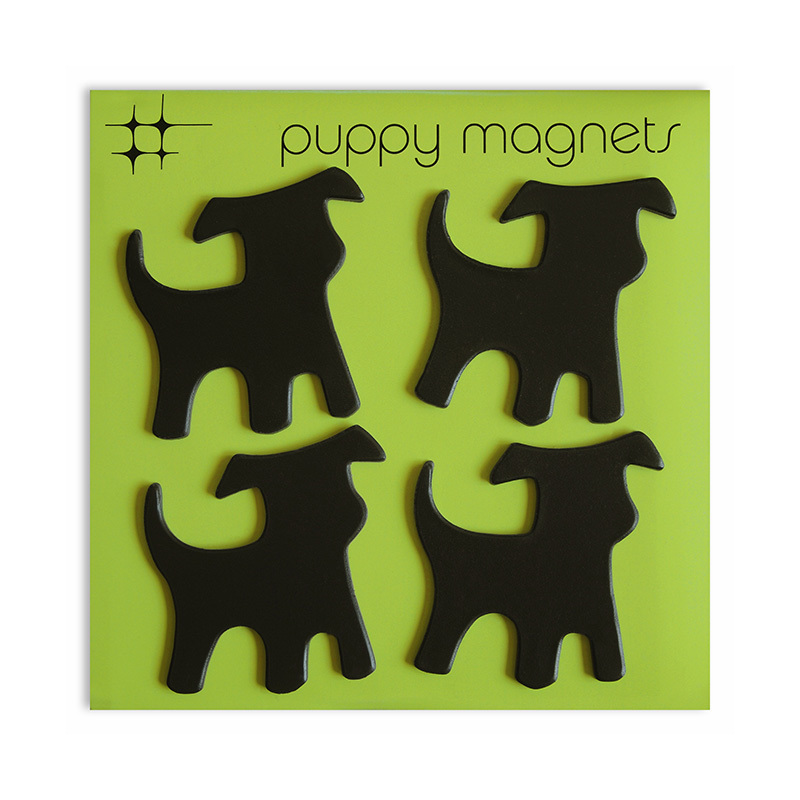 Puppy Magnets 4 pack - Black