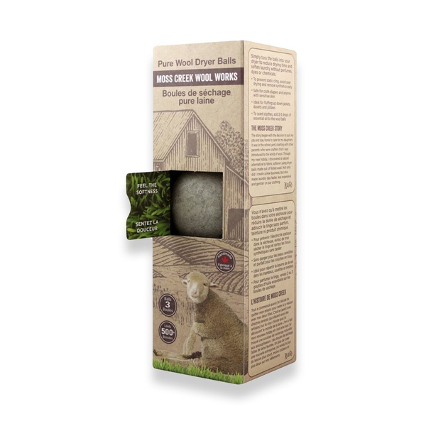 Moss Creek Grey Wool Dryer Balls (Set of 3) - GREY