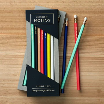 One week of mottos - Pencil Set