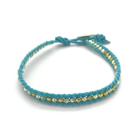 'BELIEVE' (Turquoise) Single Wrap Bracelet