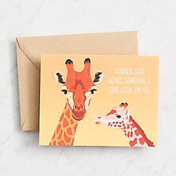Dad Giraffes Father's Day Card