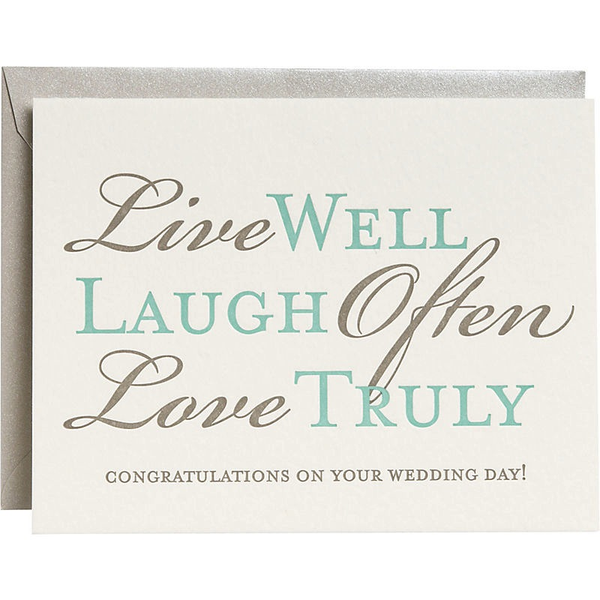 """Live Well, Laugh Often"" - Card"