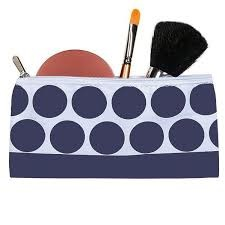 Reusable Zippered Snack Bag Navy Dot
