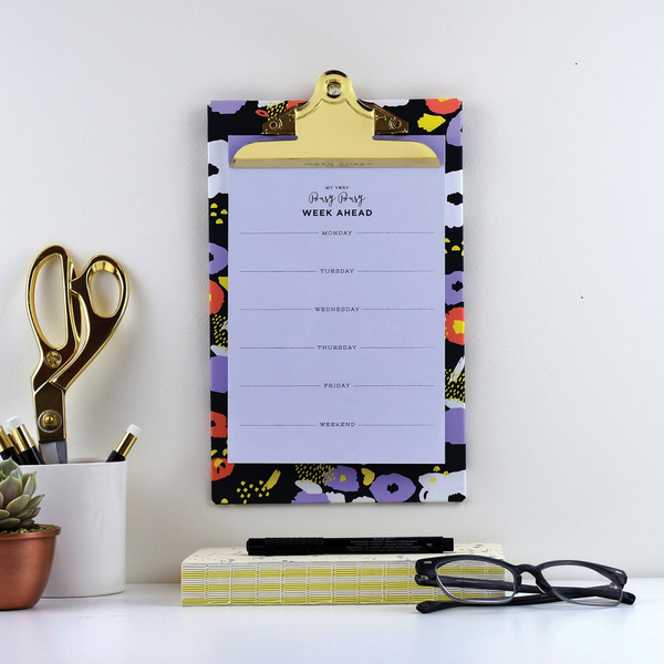 Abstract Floral - Clip board