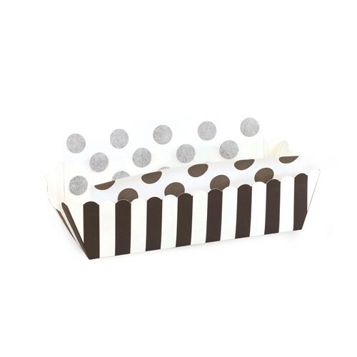Baking Tray - Black Tie Stripes