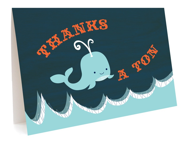Whale Ton Thank You - Boxed Cards