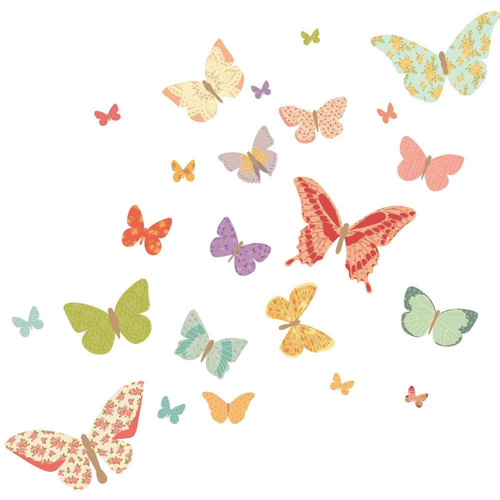 Fabric Decals - Butterflies (Girly)
