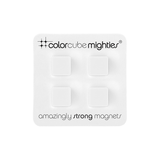 Color Cube Plastic coated Magnets White - set of 4