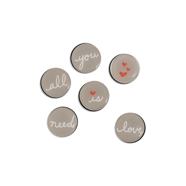 Button Magnets - All You Need is Love