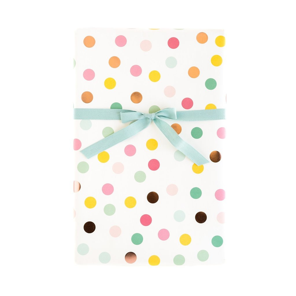 Hooray Dots with Rose Gold Gift Wrap Sheets - x3 20x27 sheets