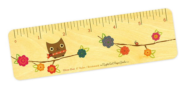 Bookmark & Ruler - Olive Owl