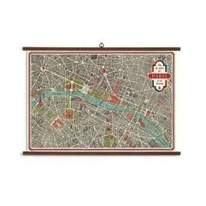 "Paris Map - large format 40"" x 28"""