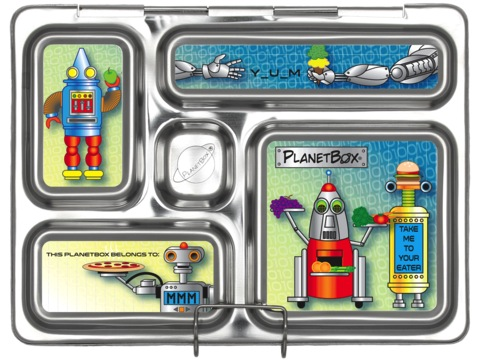 Rover Lunchbox Magnets - Robots