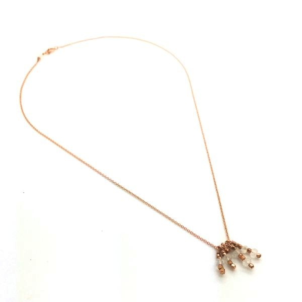 'DREAM' Tassel Pendant - rose gold