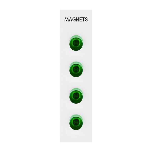 Acrylic Cylinder Magnets Set of 4 - GREEN