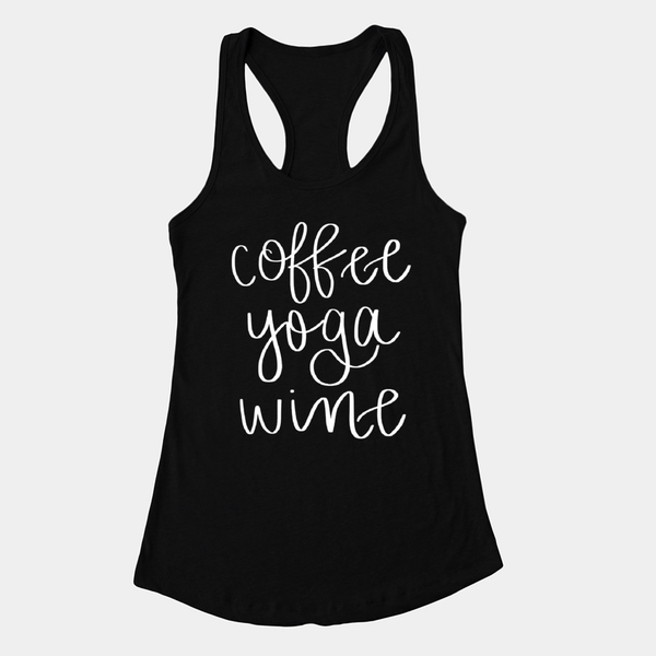 Coffee Yoga Wine Tank - Medium / Black