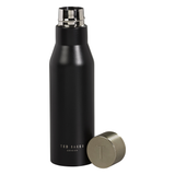 Ted Baker Water Bottle - Knurled Lid - Black Onyx