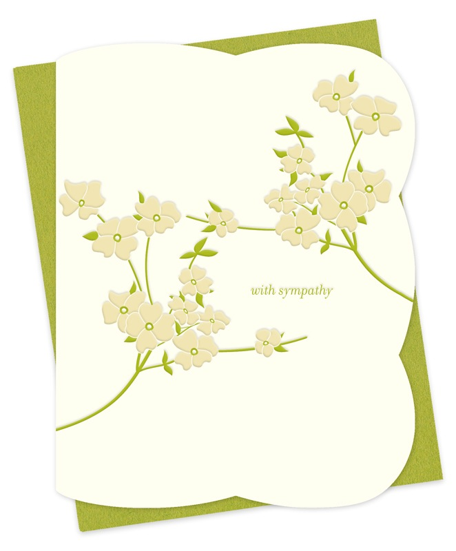 Blooming Dogwood Sympathy Card