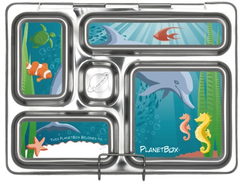 Planet Box Rover Lunchbox Magnets - Sea of Life